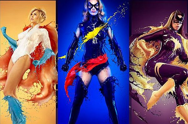 Sexy Liquid Photography Superhero Pin-Up Girls Is The New Thing