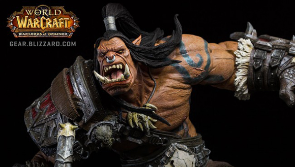 Epic Must Have Warcraft Grommash Hellscream Statue