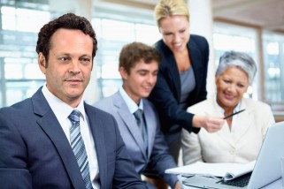 Hilarious Vince Vaughn And Cast Stock Photos for Unfinished Business Movie Promo