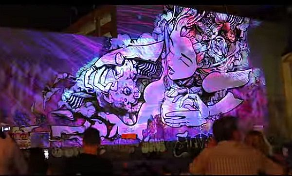 Video – White Night Melbourne Dazzled with 5 Storey High Mural