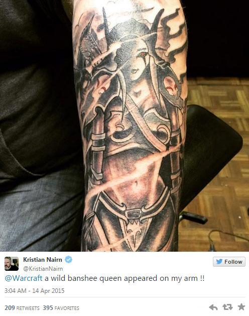 Hodor Gets Epic Sylvannas Tattoo
