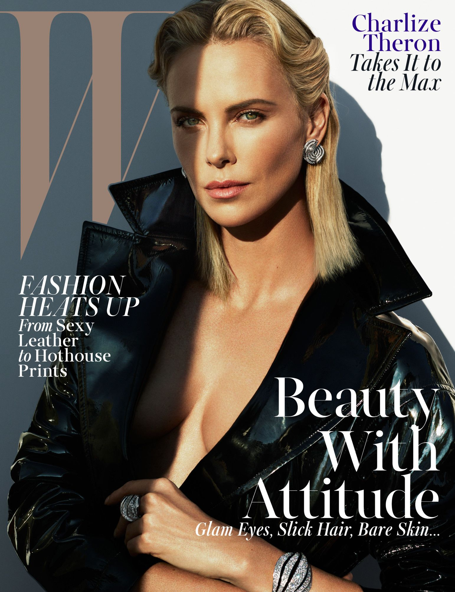 South African Hottie Charlize Theron Dazzle in W Magazine's Racy Photoshoot
