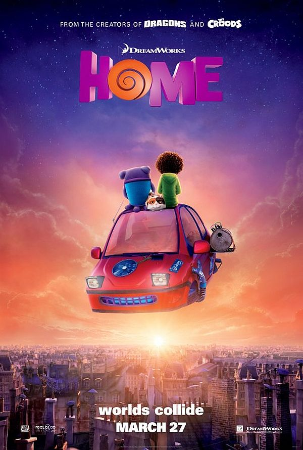 DreamWorks' 'Home' Easily Take The Box Office Crown