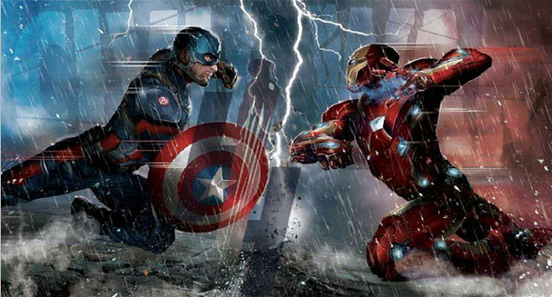 First Promo Art of Captain America vs Iron Man – Civil War