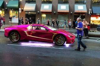 The Joker's Pimped Out Purple Lamborghini Spotted on 'Suicide Squad' Set