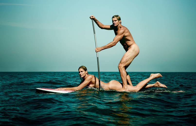 Gabrielle Reece and Laird Hamilton - Beach Volleyball and Surfer 1