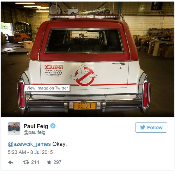 Check out the 'Ghostbusters' Car ECTO-1 in Newly Released pics