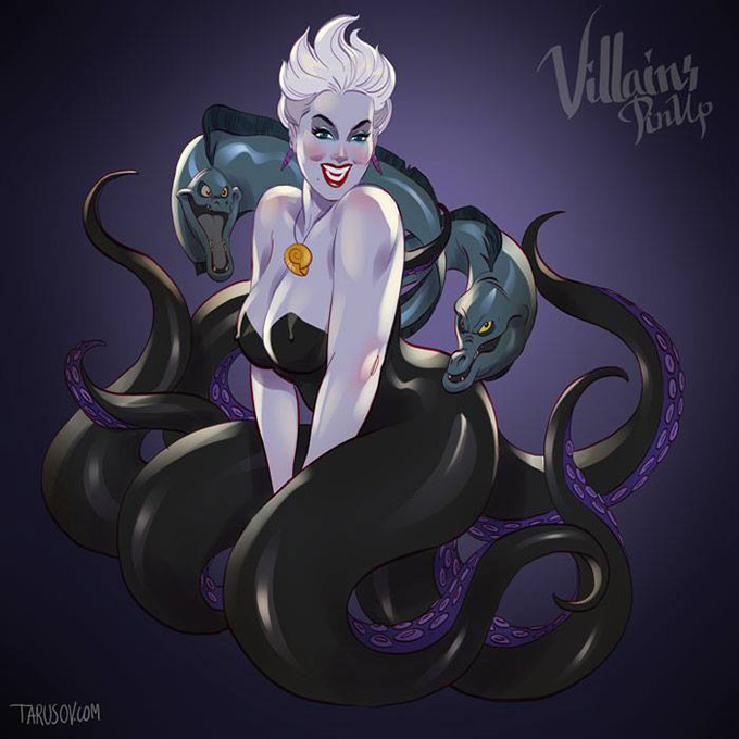 Disney Villains Pin Up Posters 1
