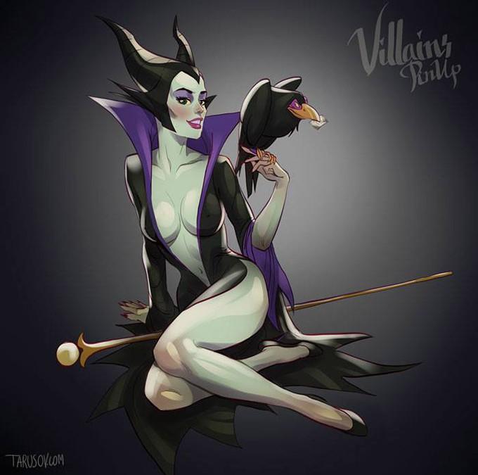 Sexy Disney Villain Pin-Up Posters
