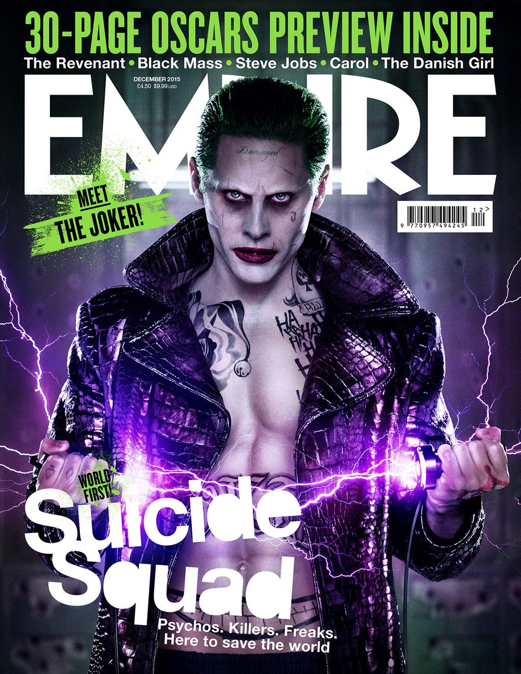 Full View Jared Leto As Joker On Cover Of Empire Magazine 1