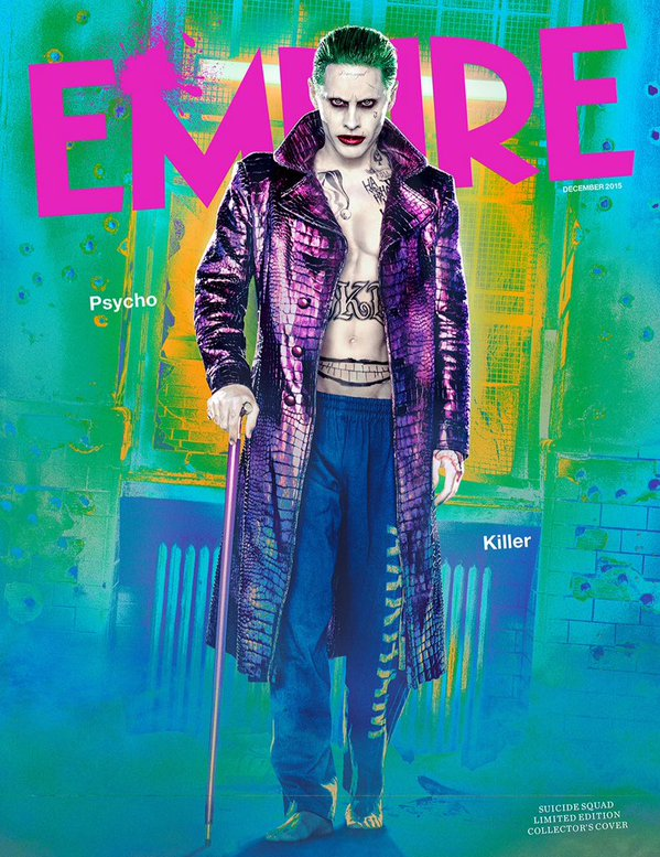 Full View Jared Leto As Joker On Cover Of Empire Magazine 3