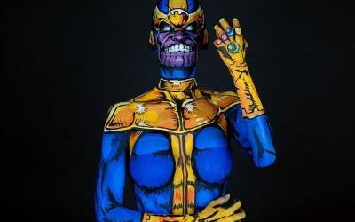 Body Paint Cosplayer Kay Pike's Amazing Superhero Art