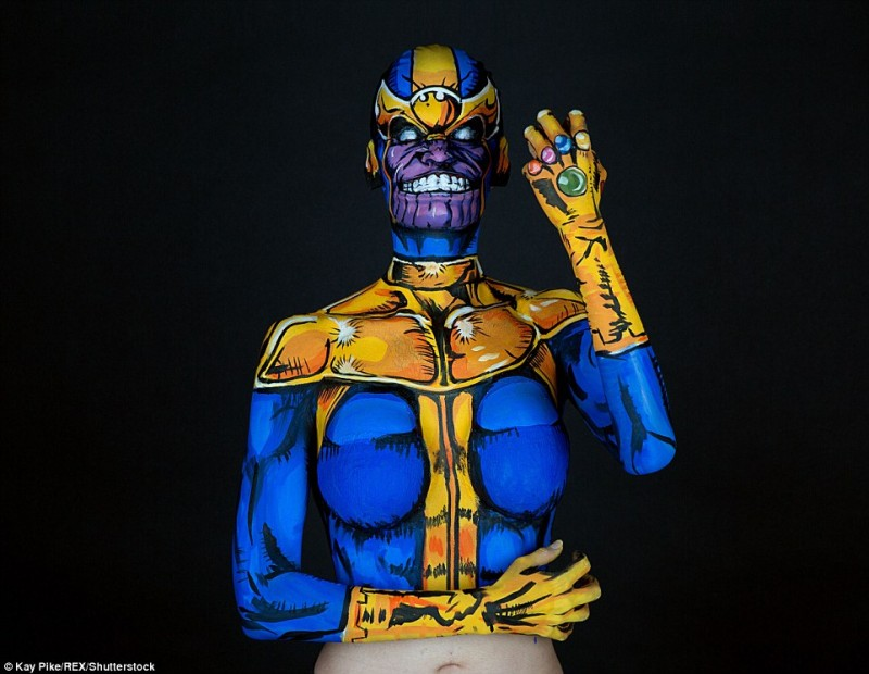 Kay PikeThanos cosplay Body Paint Sexy