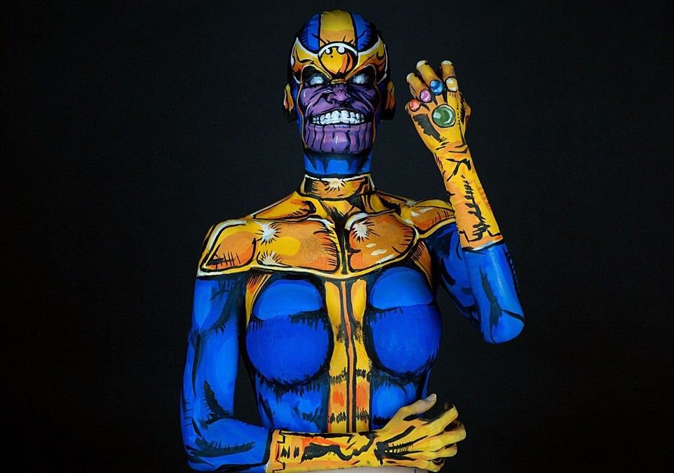 Body Paint Cosplayer Kay Pike's Amazing Superhero Art