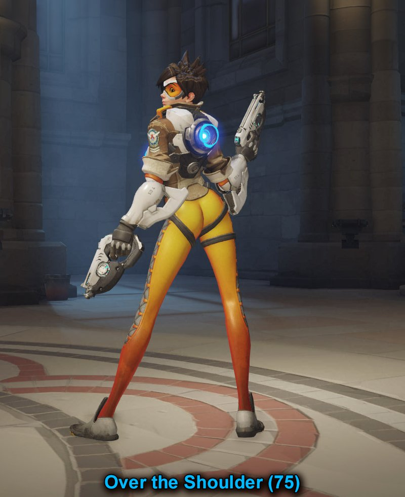 old tracer pose