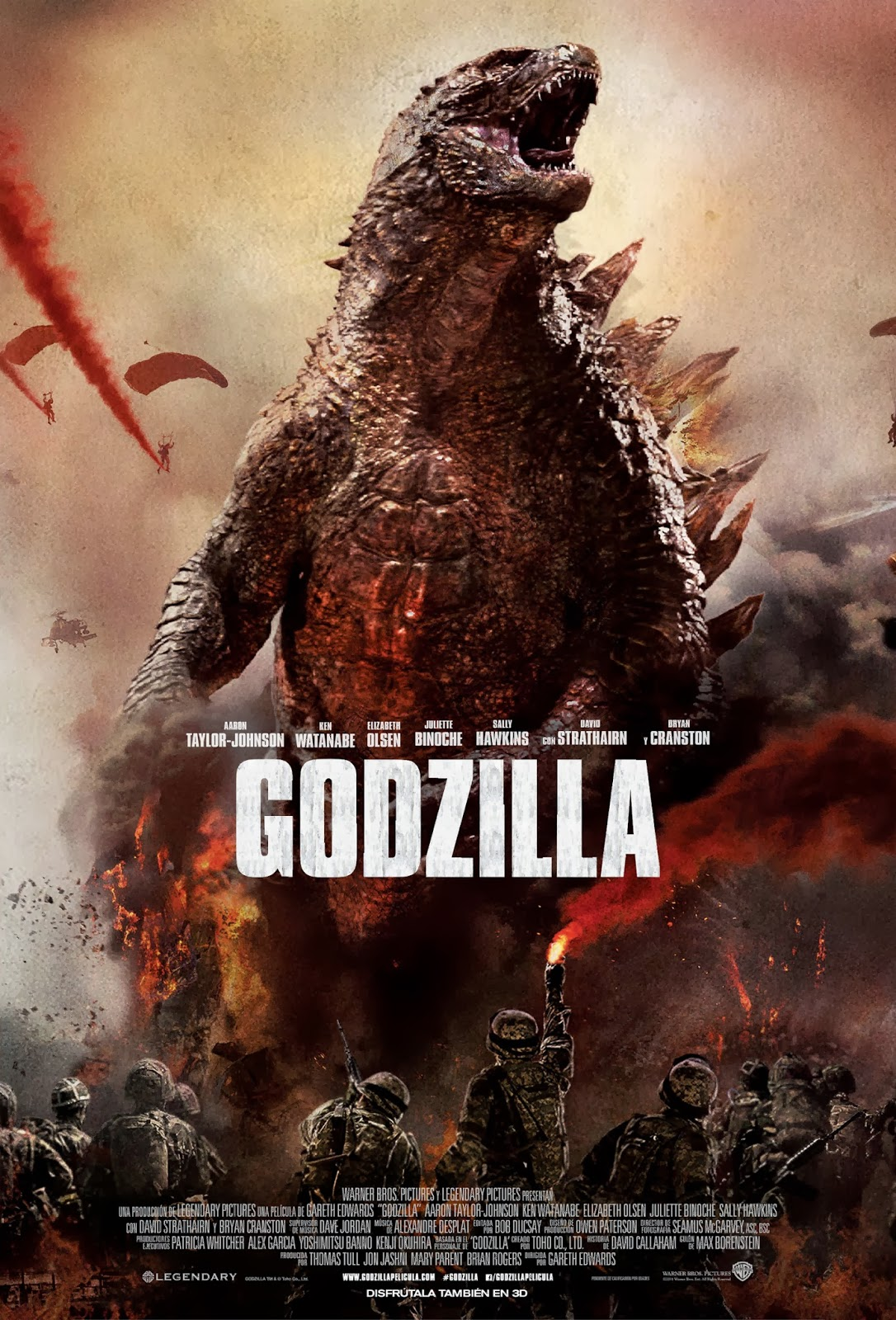 Godzilla is another of the best known Gareth Edwards movies.