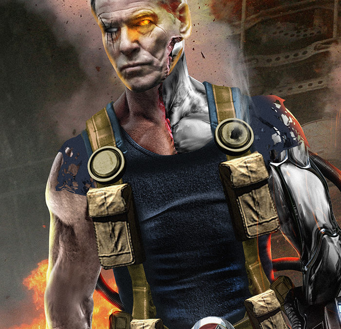 Fan Art Shows What Pierce Brosnan Could Look Like as Cable in DEADPOOL 2