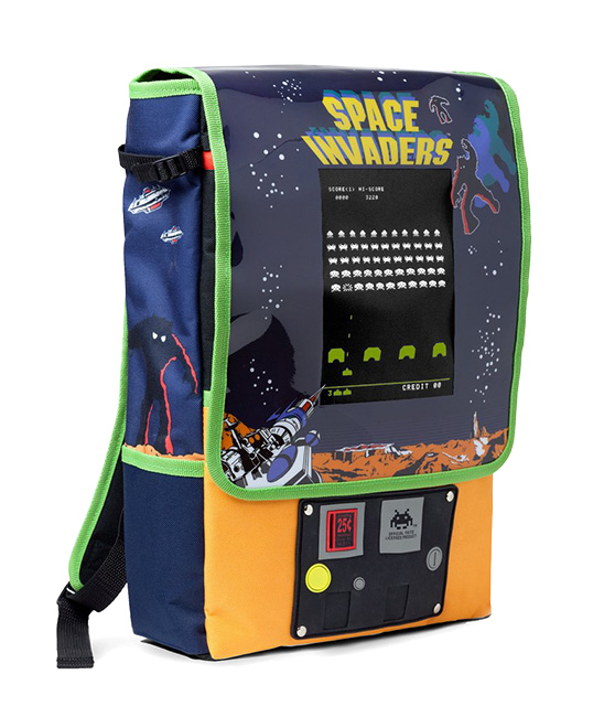 This SPACE INVADERS Arcade Cabinet Backpack Has a Coin Slot!
